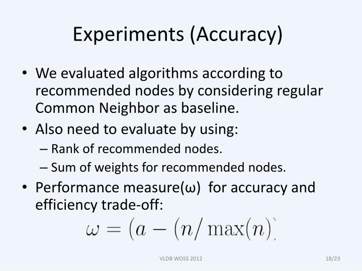Experiments (Accuracy)