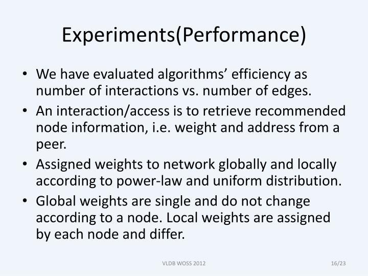 Experiments(Performance)
