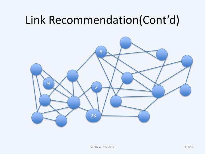 Link Recommendation(Cont'd)