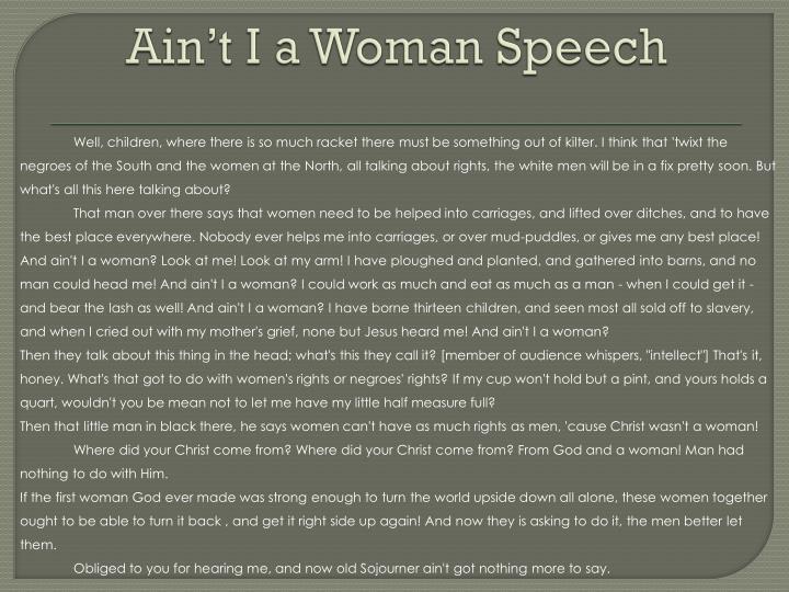 Ain t i a woman speech