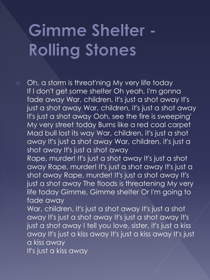 Gimme shelter rolling stones
