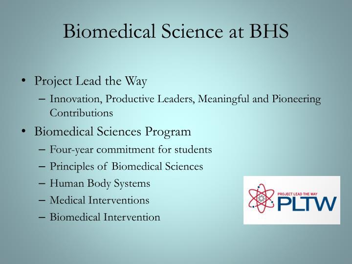 Biomedical Science at BHS