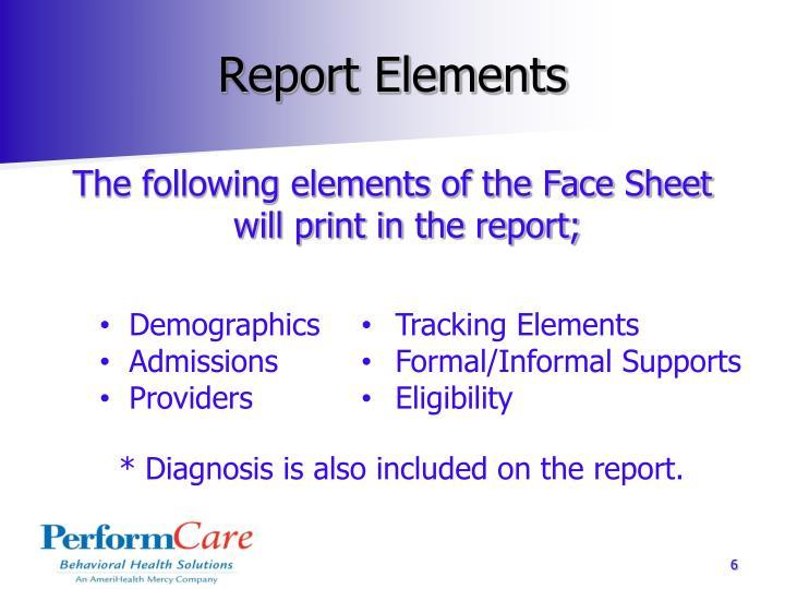 Report Elements