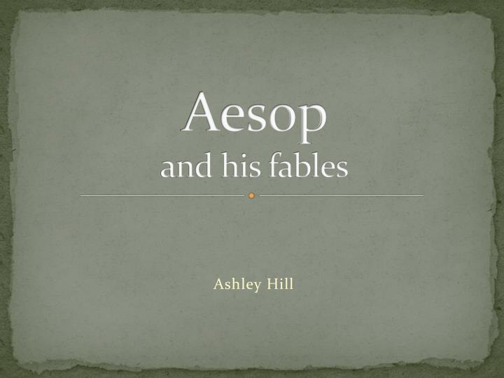 aesop and his fables n.