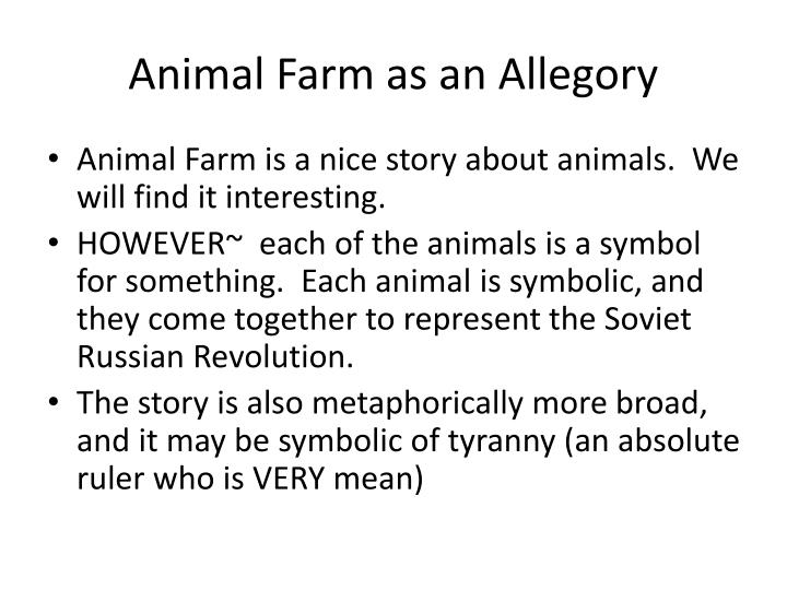 Ppt Animal Farm By George Orwell Allegory Fable Powerpoint