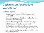 designing an appropriate workstation3