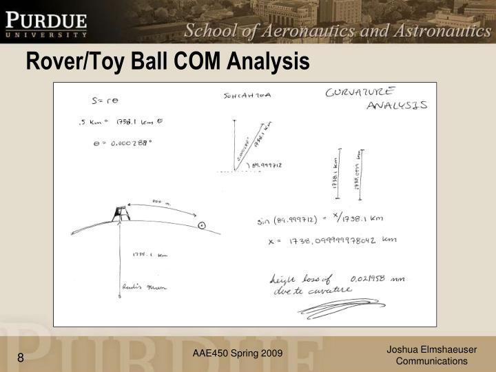 Rover/Toy Ball COM Analysis