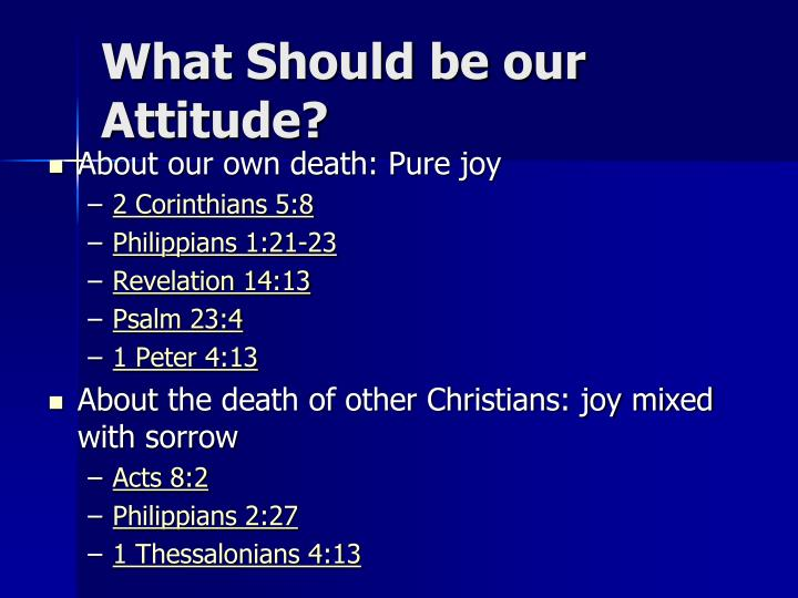 What Should be our Attitude?