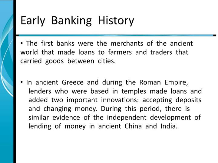 Early  Banking  History