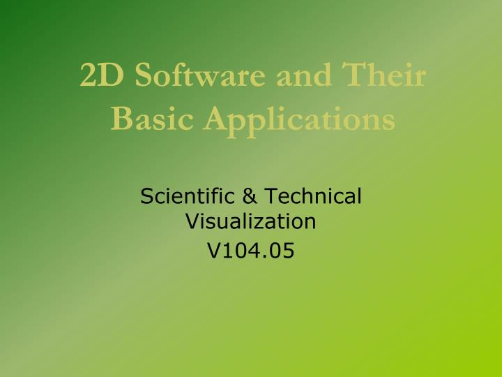 2d software and their basic applications n.