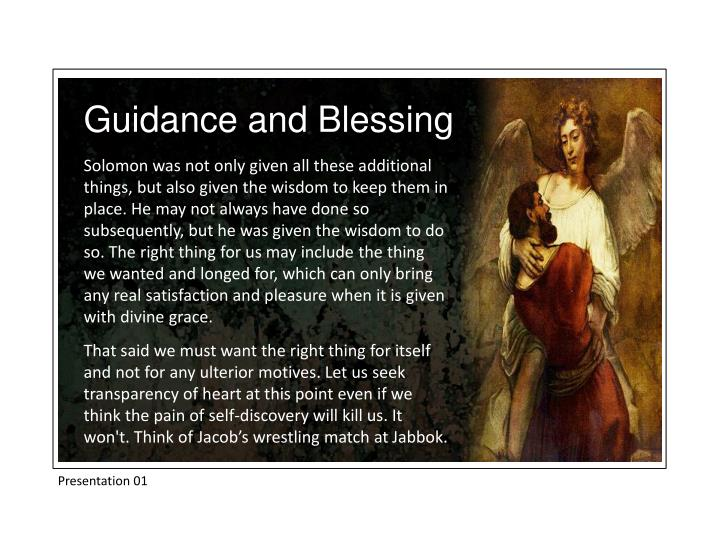 Guidance and Blessing