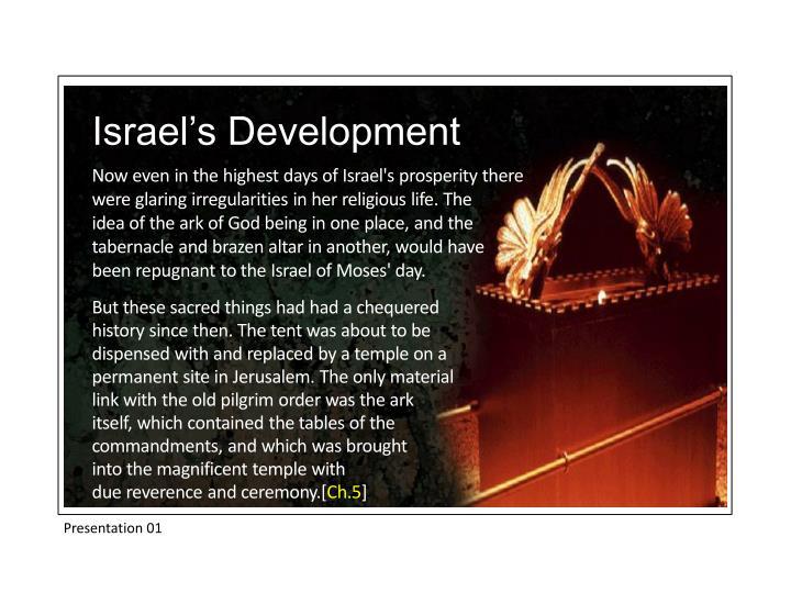 Israel's Development
