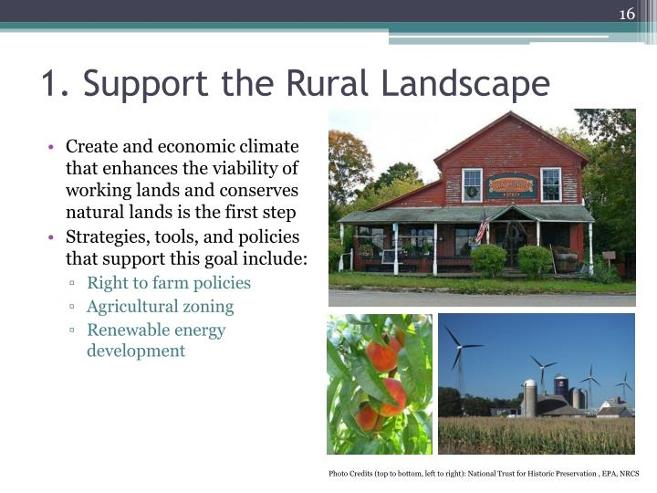 1. Support the Rural Landscape