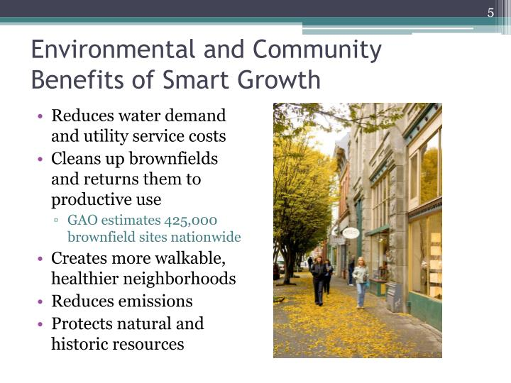 Environmental and Community Benefits of Smart Growth