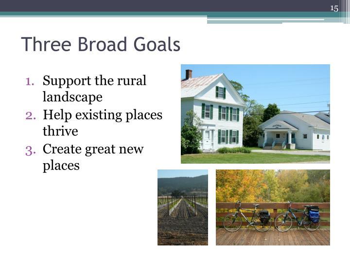 Three Broad Goals