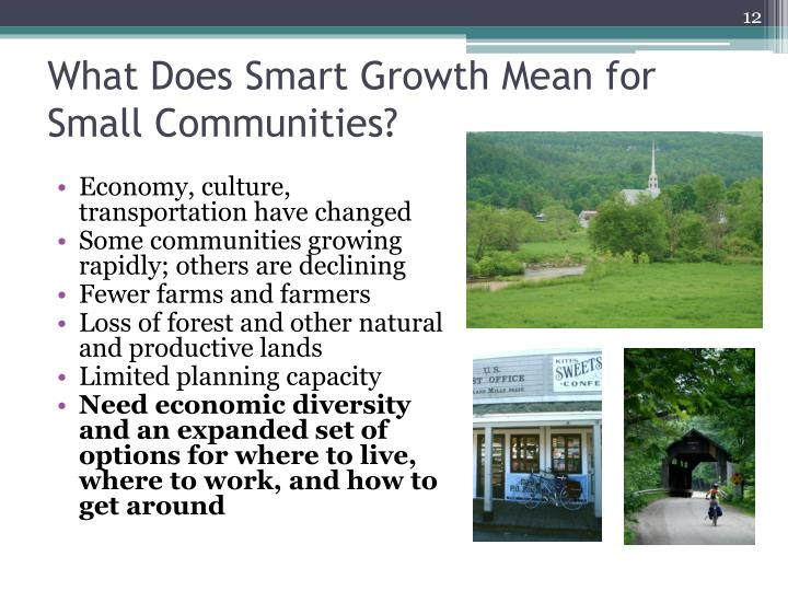 What Does Smart Growth Mean for Small Communities?