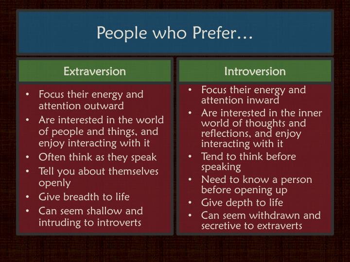 People who Prefer…