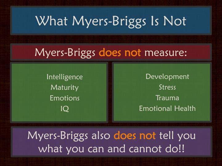What Myers-Briggs Is Not