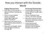 how you interact with the outside world