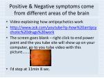positive negative symptoms come from different areas of the brain