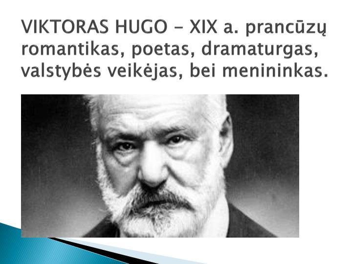 VIKTORAS HUGO - XIX