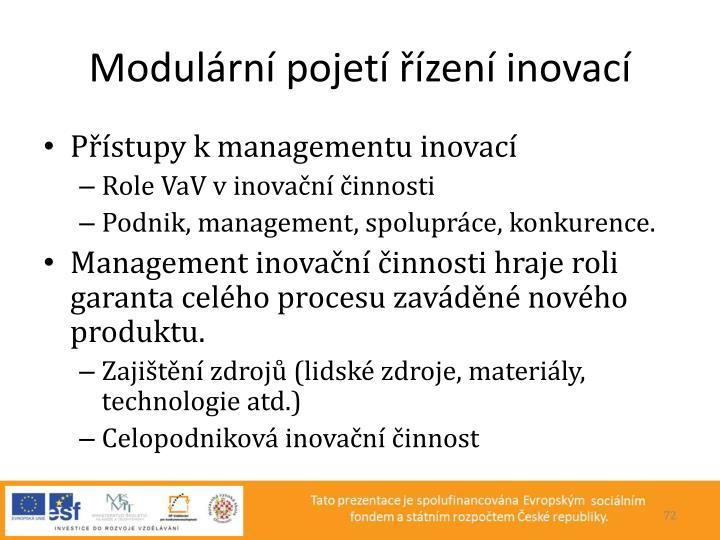 Modulární pojetí řízení inovací