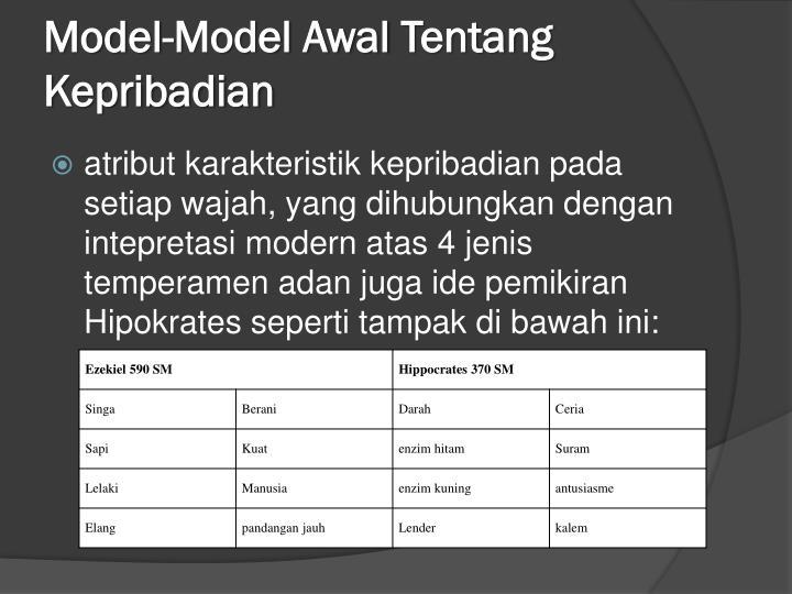 Model model awal tentang kepribadian