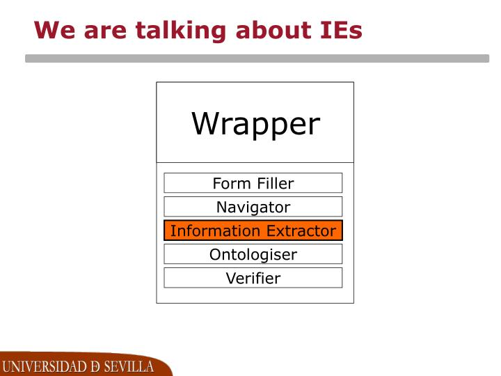 We are talking about ies