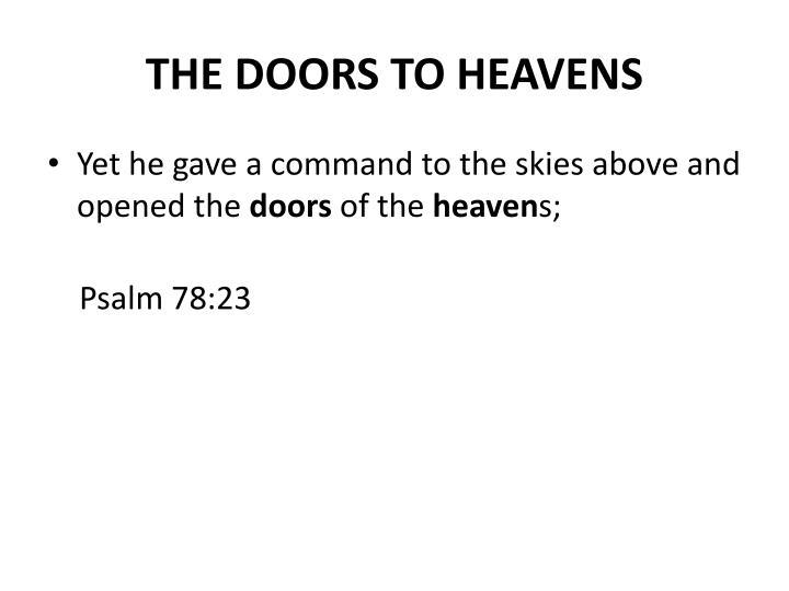 The doors to heavens