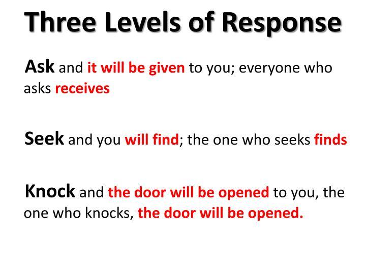 Three Levels of Response