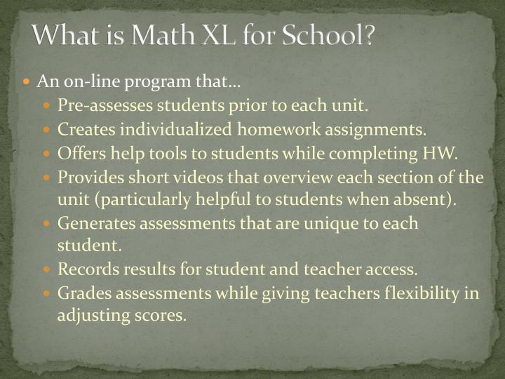 What is math xl for school