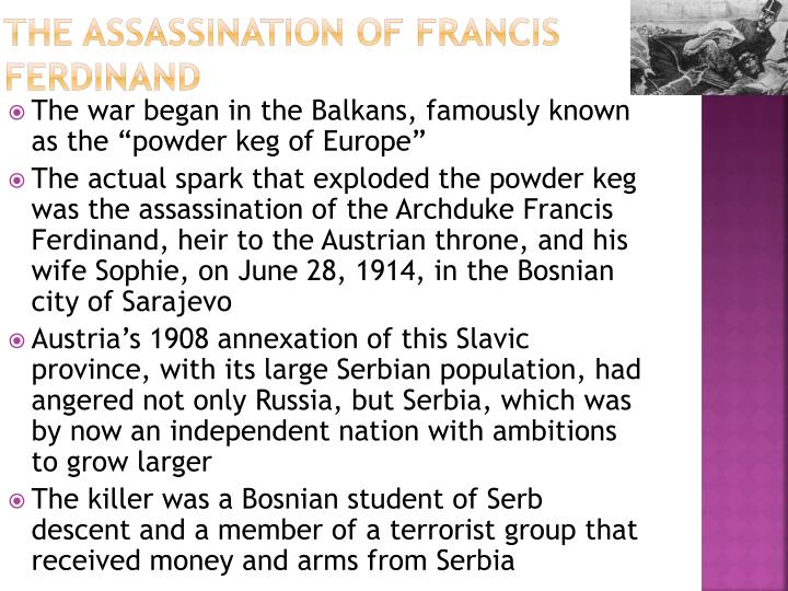 The Assassination of Francis Ferdinand