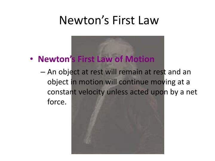 Newton s first law