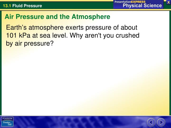 Air Pressure and the Atmosphere