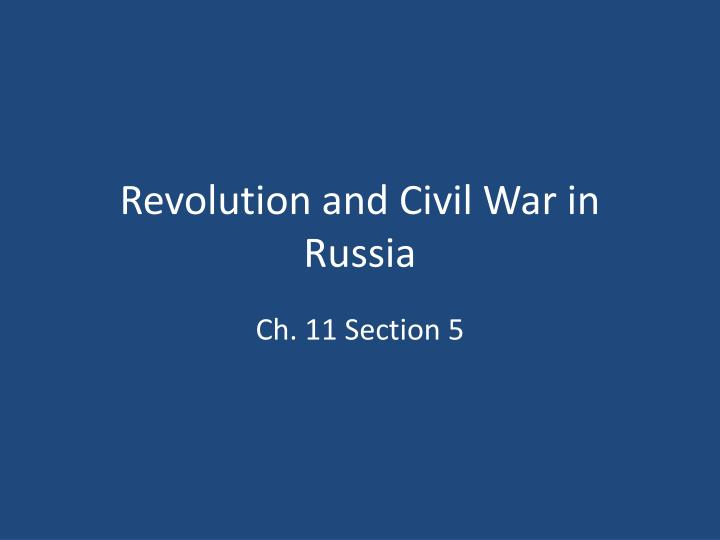 revolution and civil war in russia n.