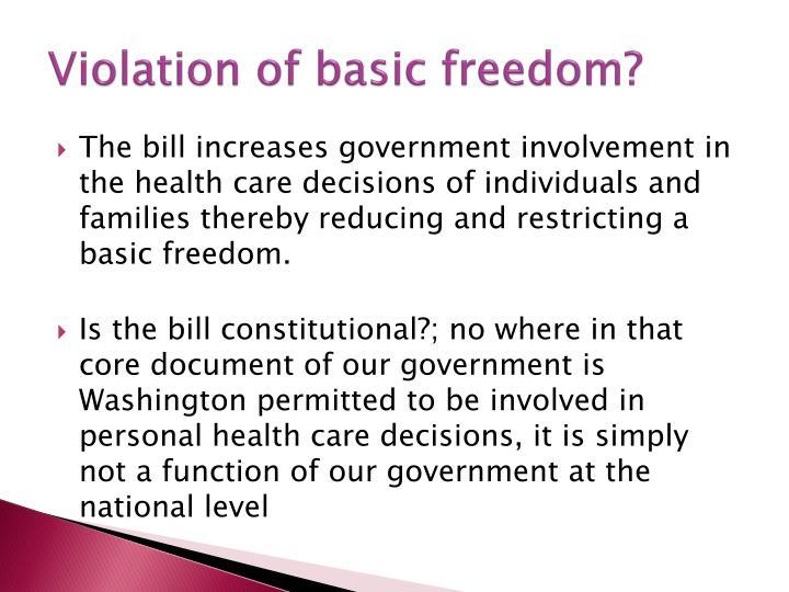 Violation of basic freedom?
