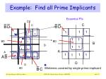 example find all prime implicants