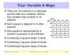 four variable k maps