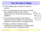 two variable k maps