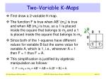 two variable k maps4
