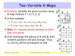 two variable k maps5