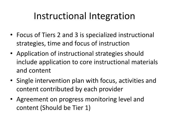 Instructional Integration
