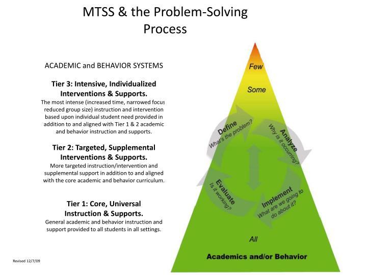 MTSS & the Problem-Solving