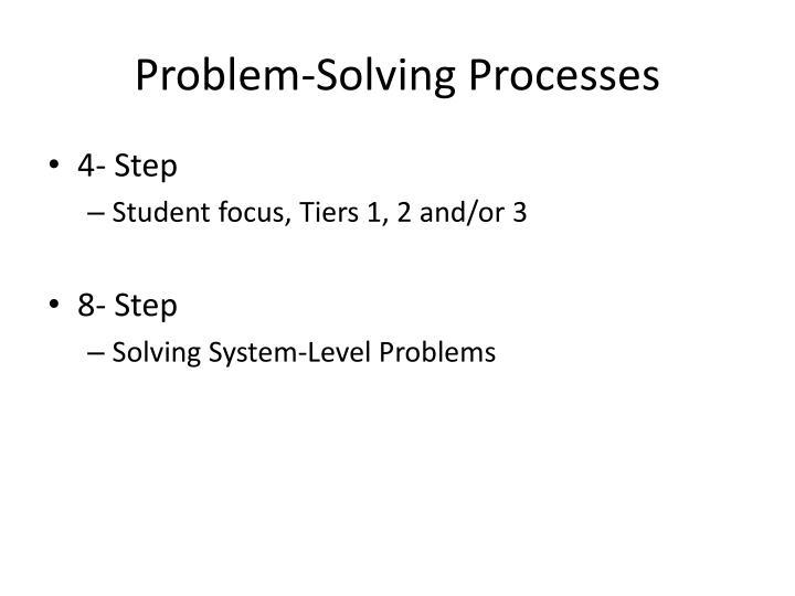 Problem-Solving Processes