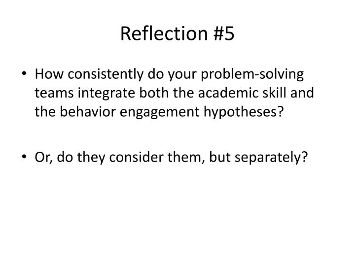 Reflection #5