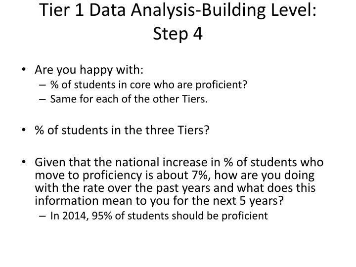 Tier 1 Data Analysis-Building Level: