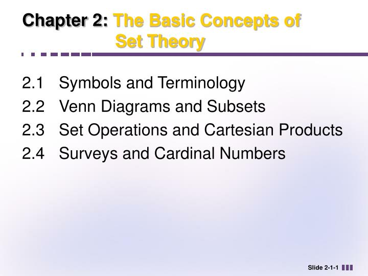 PPT Chapter 2 The Basic Concepts Of Set Theory PowerPoint