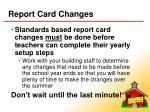 report card changes