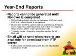 year end reports