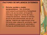 factores de influencia externos2